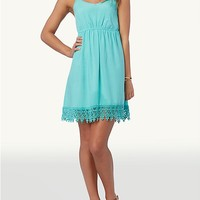 Crochet Trim Babydoll Dress