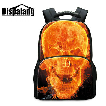 hot mochila feminina mojo style skeleton backpack men's skull print daily bags street punk lovers felt backpacks school bag