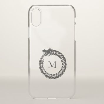 Manly Circle Icon Dragon Monogram iPhone X Case