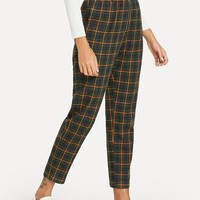 Plaid Green Trousers