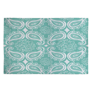 Heather Dutton Plush Paisley SeaSpray Woven Rug