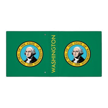 Binder with Flag of Washington, USA