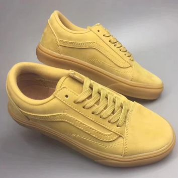 VANS OLD SKOOL Solid color antiskid shoes