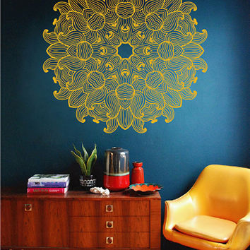 kik2432 Wall Decal Sticker beautiful mandala meditation yoga room