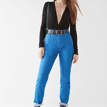 BDG High-Rise Longline Girlfriend Jean – Cornflower Blue | Urban Outfitters