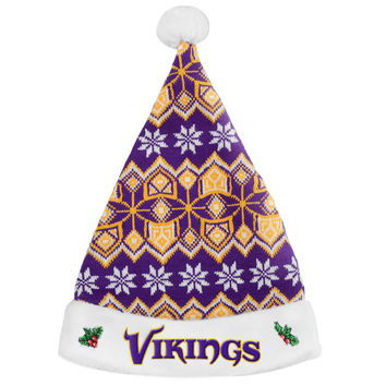 Minnesota Vikings Knit Santa Hat - 2015