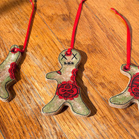 Halloween Decorations Zombie Gingerbread Men Ornaments
