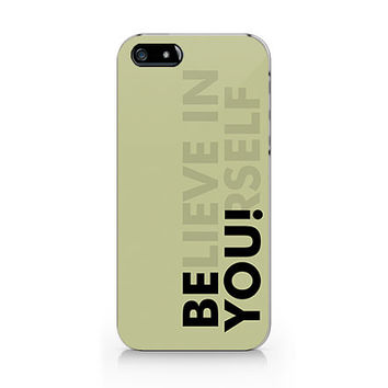 M-284-Believe in yourself design unique iPhone case, iPhone 5 case, iPhone 5S case, iPhone 4 case, iPhone 4S case