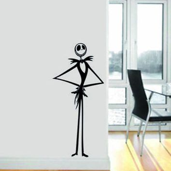 Creative Decal Nightmare before christmas Vinyl Wall art Decal Sticker home decor pumpkin skeleton L194