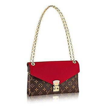 Tagre™ Louis Vuitton Pallas Chain Cherry Color Clutch Shoulder Bag Cross Body Article: M41201