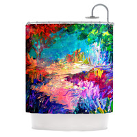 "Ebi Emporium ""Welcome to Utopia"" Rainbow Shower Curtain"
