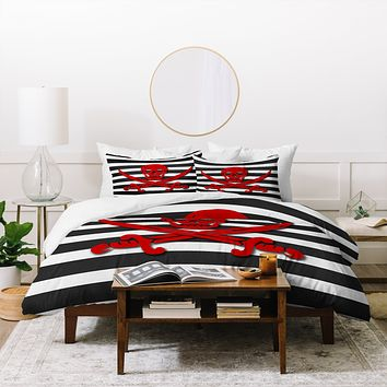 Lara Kulpa Red Pirate Duvet Cover