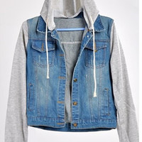 Womens Jean Hooded Jacket