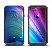 The Pink and Blue Glowing Neon Wave Apple iPhone 6 LifeProof Fre Case Skin Set