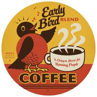 Anderson Design Group's Early Bird Coffee Circle Decal