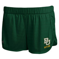 Women's Baylor Bears Under Armour Green Performance Mesh Shorts