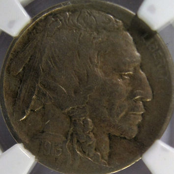 1913 D USA Indian Head Buffalo Nickel, NGC XF 40, Slabbed Five Cent Nickel, Key Date Coin,Buffalo Nickel Coin, Collectable Coin Indian Head