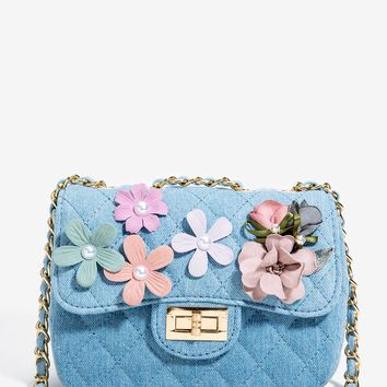 Floral Quilted Crossbody