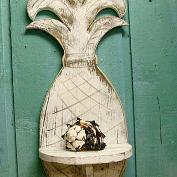 Shelf Pineapple Wall Sign Bahama Beach House Tropical Art Decor