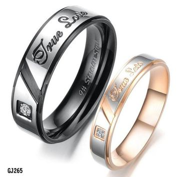 ca PEAPTM4 Titanium Stainless Steel Ring Set Wedding Valentine Couple Lover Engagement Band [8958434375]