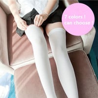 Anime Cosplay Costume Stockings Thigh high Japanese Student Socks 7 colors