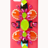 FOREVER 21 Dazzle 'Em Neon Phone Case Hot Pink/Multi One