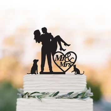 Wedding dog cat Cake topper