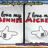 His & Hers - I'm Love My Minnie I Love My Mickey Disney Couples Shirts