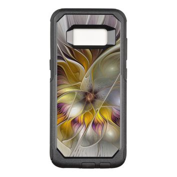 Abstract Colorful Fantasy Flower Modern Fractal OtterBox Commuter Samsung Galaxy S8 Case