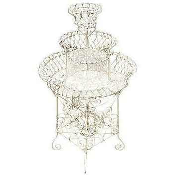Pre-owned Antique French Wire Plant Stand