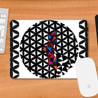 Bordered Floral Batman | Geometric | Triangle | Mousepad | Artist: Subham Lohani