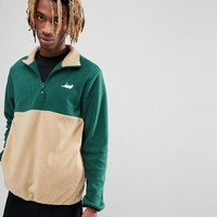 RIPNDIP Castanza 1/4 Zip Up Sweat In Green at asos.com