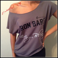 Iron Bars and Icy Bling Training Shirt Super Cute and Fun Womens Fitness Shirt Fitness Womens Crossfit Tank Fitness Tank Workout Clothes