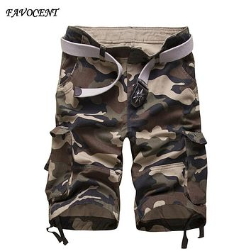 Plus size 42 New 2017 Men's Summer Army camouflage Shorts  Men Military Casual Shorts Cargo Shorts Male Workout Shorts Homme