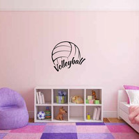Volleyball Vinyl Wall Decal Sticker Graphic