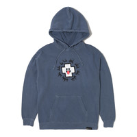 Ghost Promo Hoodie in Blue Jean – Pink+Dolphin