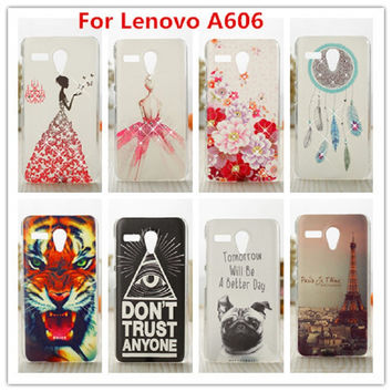 Luxury Crystal Diamond 3D case For Lenovo A606 Bling Shine Hard Protector Plastic Case Cover For Lenovo A606 Cell Phone Case