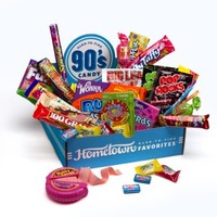 1990's Candy Gift Decade Box in Decade Candy Boxes | 1990's Candy at Hometown Favorites Hard to Find Nostalgic Gifts Baskets and Gift Boxes - Hometown Favorites