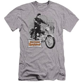 Elvis Presley Premium Canvas T-Shirt Roustabout Athletic Heather Tee