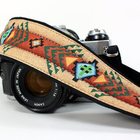 Tribal Camera Strap, dSLR or SLR, Southwestern