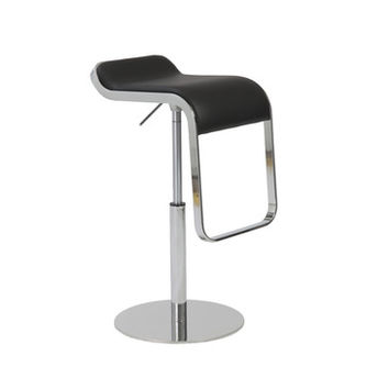 Eurostyle Freddy Adjustable Bar-Counter Stool in Black & Chrome