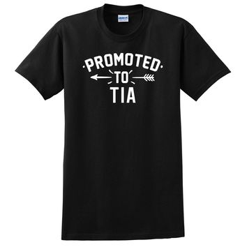 Promoted to tia  pregnancy reveal baby shower gift T Shirt