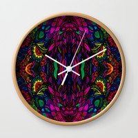 Psychedelic Illusions Intense Colors Pattern Wall Clock by Zurine