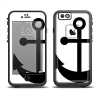 The Solid Black Anchor Silhouette Apple iPhone 6 LifeProof Fre Case Skin Set