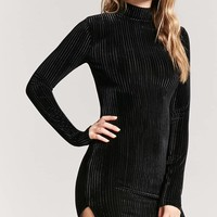 Ribbed Velvet Dress