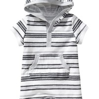 Old Navy Striped Hooded Short One Pieces For Baby