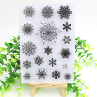 Snowflake Transparent Clear Silicone Stamp Seal for DIY scrapbooking photo album Decorative clear stamp sheets