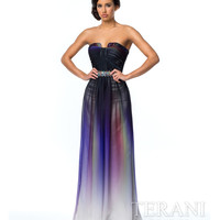 Multi Colored Ombre Chiffon Gown