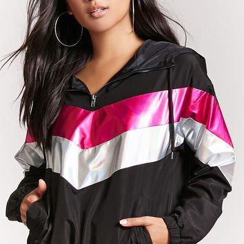 Chevron Colorblock Anorak