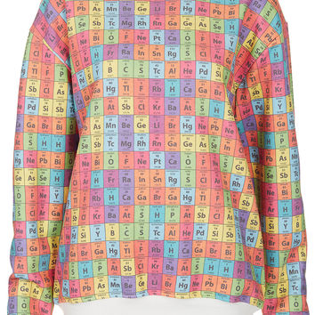 Periodic Table Sweat By Tee And Cake - Jersey Tops - Clothing - Topshop USA